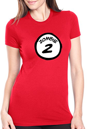 Women's Zombie TWO T Shirt Funny Halloween Couple's Costume Zombies Tee