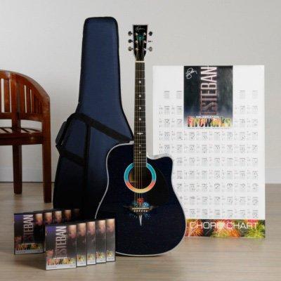 music online store esteban fireworks celebration 30 piece acoustic electric guitar set blem. Black Bedroom Furniture Sets. Home Design Ideas