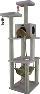 Armarkat Cat tree Furniture Condo, Height -70-Inch to 75-Inch