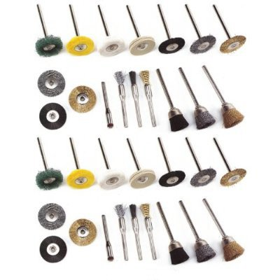34 Aviation Parts Cleaning Tool Wire Brushes for Dremel