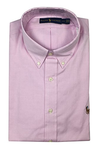Ralph Lauren Polo Mens Classic Fit Button Down Shirt Pink Multi-Color Pony (15 1/2) (Polo Classic Fit Button Down compare prices)