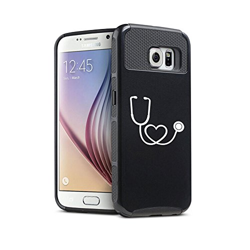 Samsung-Galaxy-S6-Shockproof-Impact-Hard-Case-Cover-Heart-Stethoscope-Nurse-Doctor