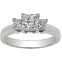 14k White Gold Princess Cut Wedding Band 88 Fresh K Gold Three Stone