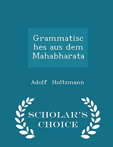 Grammatisches aus dem Mahabharata - Scholar's Choice Edition