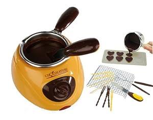 schoko fondue 79 5107 schmelzmaschine f r schokolade praline chocolate melting pot. Black Bedroom Furniture Sets. Home Design Ideas