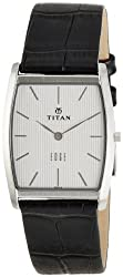 Titan Edge Analog Silver Dial Mens Watch - NE1044SL01