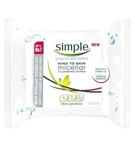 SimpleTipo Di Detergente Micellare Pelle Salviette - 25 Salviette
