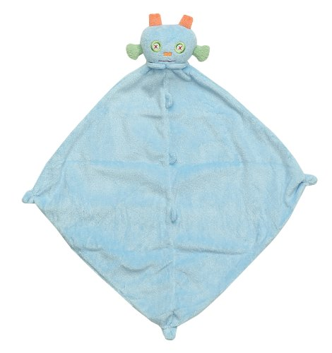 Angel Dear Robot Blankie Security Blanket, Blue
