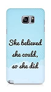 AMEZ she believed she could so she did Back Cover For Samsung Galaxy Note 5