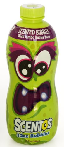 Scentos Green Apples 32oz Scented Bubbles With Jumbo Bubble Wand - 1