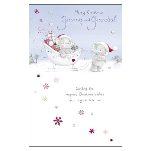 Granny And Grandad Elliot & Buttons Christmas Card