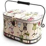 Dritz® St. Jane(TM) Sewing Basket, Large Oval (metal handle)