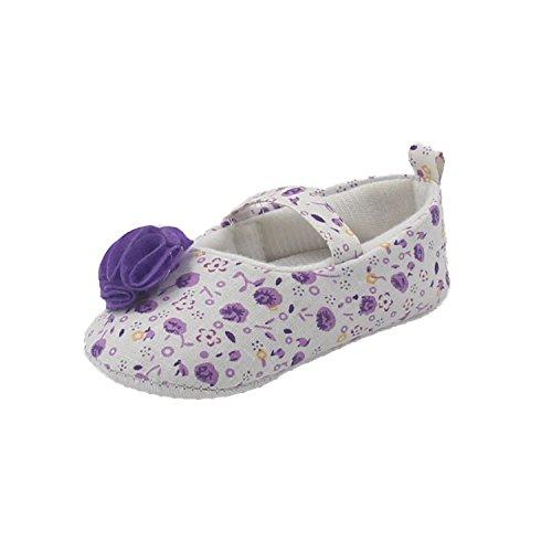 Msmushroom Cotton Flower Print Toddler Shoes For Baby Purple Flower,3M