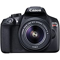 Canon EOS Rebel T6 18MP Full HD 1080p Wi-Fi Digital SLR Camera with 18-55mm Lens (Black) + Printer + Sheets