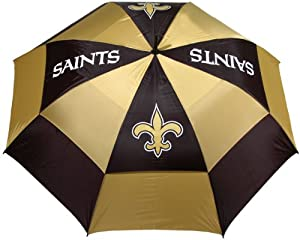 NFL New Orleans Saints 62-Inch Double Canopy Umbrella
