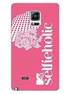 Samsung Note 4 Edge Cases & Covers - MTV Gone Case - Addicted To Selfies - Selfieholic - Pink - Designer Printed Hard Shell Case