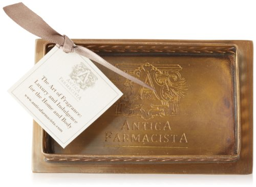 Antica Farmacista Brass Decorative Tray for Bubble Bath