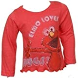 Sesame Street Little Girls' Toddler Elmo Long Sleeve Tee Shirt Size 5T