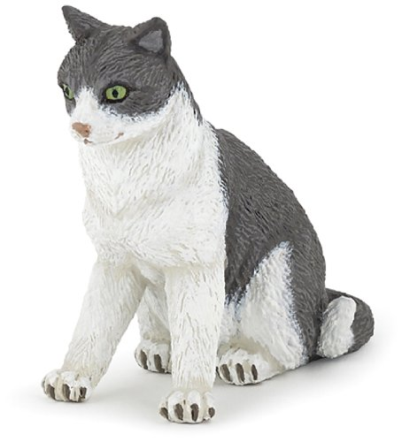 Papo Cat Sitting Down Toy Figure - 1