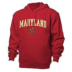 NCAA Maryland Terrapins Benchmark Hood, Red, XX-Large