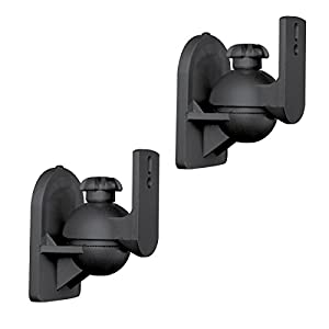 ViiRO Universal Speaker Mounting Brackets Black - Sold In Pairs - Suit up to 7.7lbs / 3.5kg Speakers