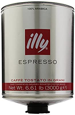 illy Scuro Dark Roast, Red Band, Whole Bean Coffee, 6.61-Pound Cans (Pack of 2)