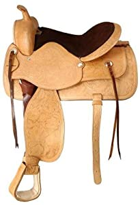 King Series King Series Lancaster Trail and Show Saddle, Light Oil, Leather, 17 in.