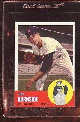 1963 TOPPS #19 PETE BURNSIDE EXMT *95284
