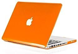 Kuzy Rubberized Hard Cover Case for Macbook Pro 13 inch Orange