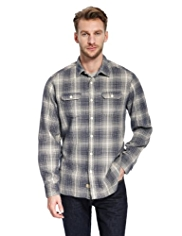 North Coast Brushed Pure Cotton Checked Shirt