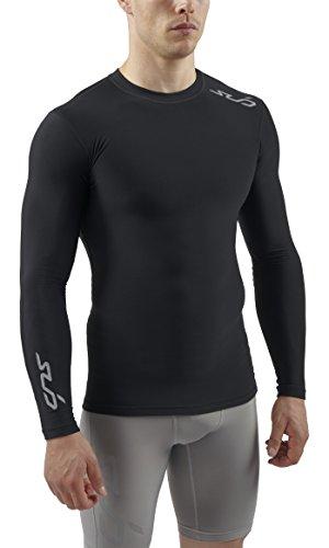 Sub Sports Uomo Cold Maglietta a compressione Biancheria intima tecnica Base Layer, a maniche lunghe, Nero (Schwarz), M