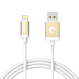 Lightning Cable, i-Blason 6 Feet (1.8m) Apple MFI Certified Lightning Cable for iPhone 6 / Plus, iPhone 5S, iPad Air 2, iPad Mini 3 (White)