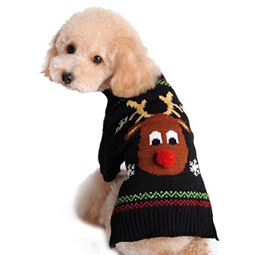 Cane Natale Gilet Malloom® Inverno Maglieria Cappotto Per Cane Giacca (Piccolo Elk)