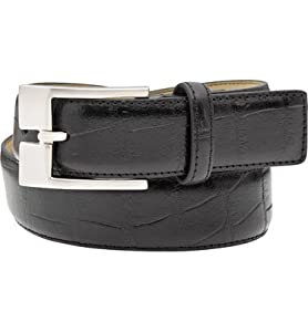 Snake Eyes Mens Embossed Croc Belt( COLOR: Black, WAIST:36 )
