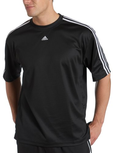camiseta adidas blanca rayas negras