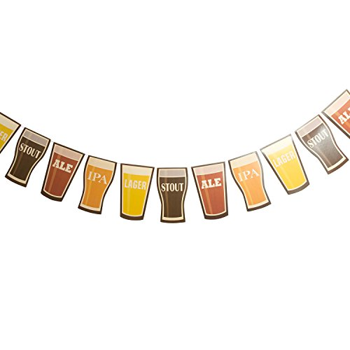 Fun Express 7' Cardboard Beer Garland Octoberfest Party Decorations (Beer Party compare prices)