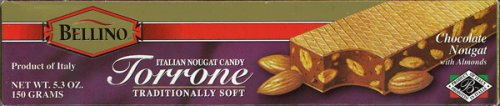 Bellino Chocolate Torrone Bar 5.3 oz by Bellino