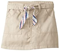 (2930) Genuine Uniforms Girls Skort Skirt with Reversible Striped Belt (Sizes 4-16) in Khaki Size: 6X