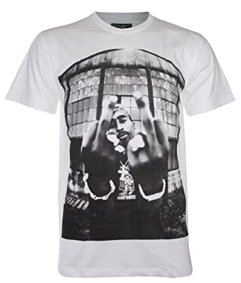 TUPAC SHAKUR American Rapper New with Tag T-Shirt (DR28) (Medium, White)