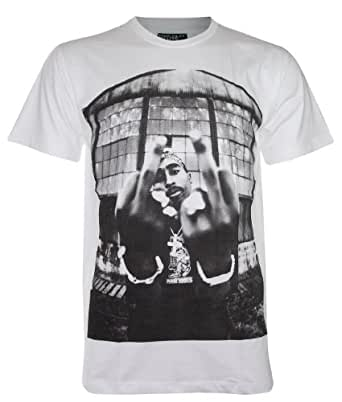 TUPAC SHAKUR American Rapper New with Tag T-Shirt (DR28) (X-Large, White)