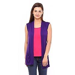 Vvoguish Corporate Wear Purple Shrugs-VVSHU808PUR-L