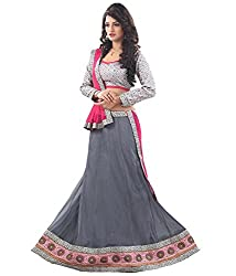 Nilkanth Enterprise Sargam Grey Georgette Lehenga Choli