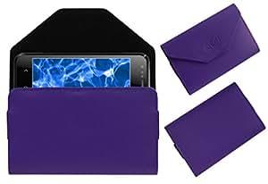 Acm Premium Pouch Case For Karbonn Smart A2+ Flip Flap Cover Holder Purple