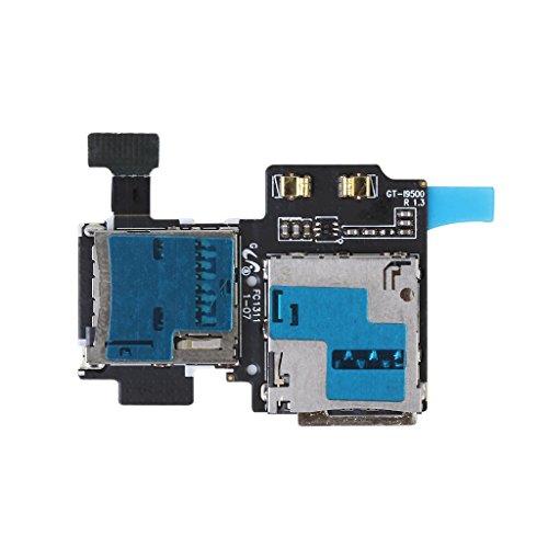 ノーブランド品Samsung Galaxy S4 i9500に適用 マイクロ SD カード リーダー SIM トレイ ホルダー フレックス ケーブル