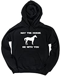 HippoWarehouse May the horse be with you unisex Hoodie hooded top