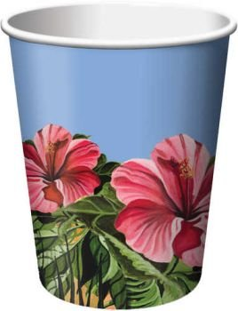 Polynesian Parrot Party 9oz Paper Cups 8 Per Pack - 1