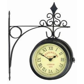 horloge-de-gare-kensington-station-london-1879-1450cm-double-face-metal-brosse-support-mural-inclus-