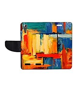 KolorEdge Printed Flip Cover For Lenovo A6000 - Multicolor(50KeMLogo8202LenovoA6000)
