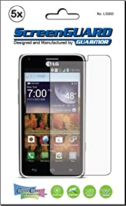 5x LG Mach Cayenne LS860 Sprint Premium Clear LCD Screen Protector Kit, Exact fit, no cutting. (5 pieces by GUARMOR)