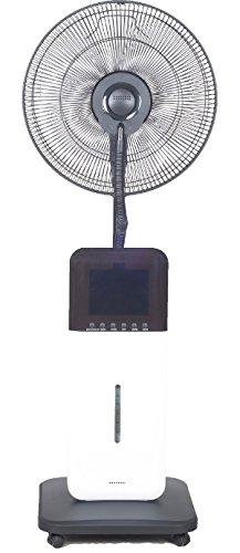 CoolZone by Sunheat CZ500 Misting Fan Ultrasonic Dry Misting Fan in White with Bluetooth Technology